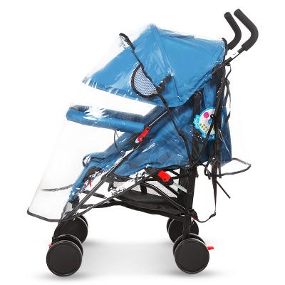 呵宝(HOPE)通用型婴儿车雨罩推车防风罩宝宝推车伞车防雨罩保暖罩儿童车雨衣童车配件EVA