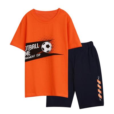 紅豆男童夏裝套裝2020新款兒童寶寶短袖T恤中褲運動洋氣兩件套H0J3107