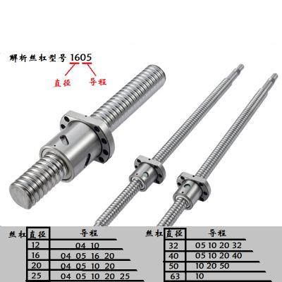 闪电客高精度精密滚珠丝杆固定1204丝杠螺母正反牙1605传动丝杆升降套装 2525丝杆螺母