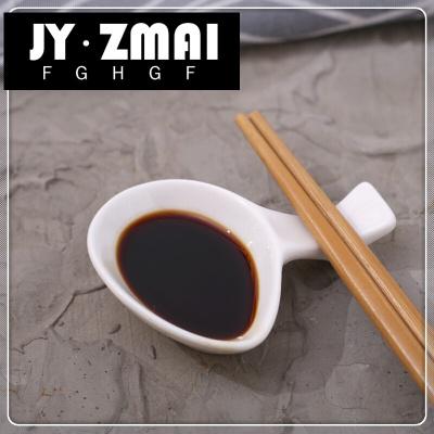 兩用個餐廳架式日陶瓷中湯匙托筷托白色裝筷枕酒店10筷架筷子EF-zd02定制