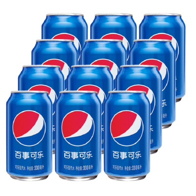百事可樂 可樂型汽水330ml*12聽裝碳酸汽水飲料罐裝