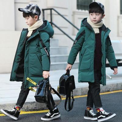 男童中长款棉衣 2019新款儿童冬装棉服 中大童加厚棉袄冬季童装外套