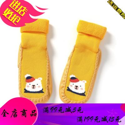 婴儿鞋袜防滑儿童地板袜保暖2019冬装新款幼儿宝宝袜子潮
