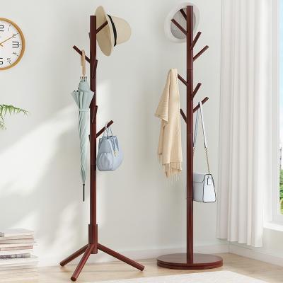 簡易辦公室落地衣帽架阿斯卡利房間臥室內家用大實木置物衣服掛衣架