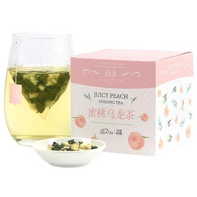 買1送1蜜桃烏龍茶 潤朵白桃烏龍茶花果水果茶袋泡茶包冷泡茶葉