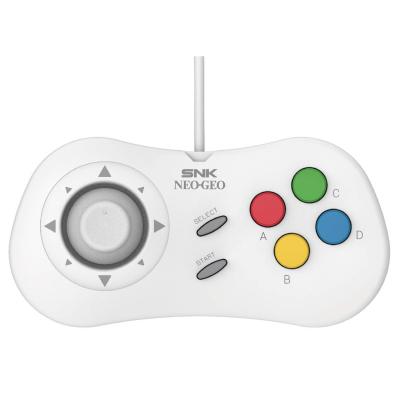 白色SNK type c 格斗手柄 NEOGEO mini pad 适配SNK NEOGEO游戏控制器