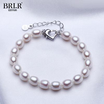 佰色傳情(BRIR) 淡水珍珠手鏈米珠7-8mm優雅