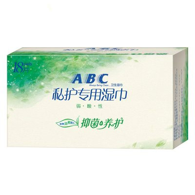 ABC私處濕巾 茶樹精華系列 溫和抑菌 濕巾18片裝 女性濕巾