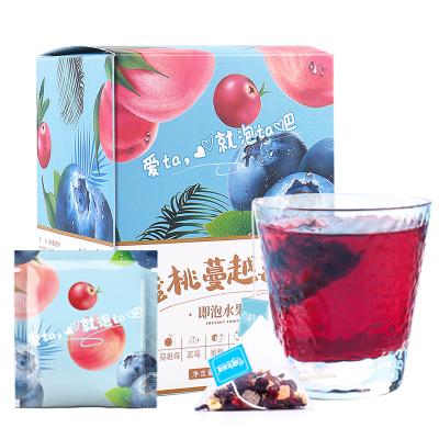 【買2送梅森杯】蒲草茶坊 蜜桃蔓越莓水果茶洛神花藍莓山楂茶泡水80g