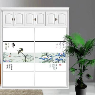 衣柜CIAA定做衣櫥推拉壁柜簡約滑動3定制鋼化玻璃衣柜移 9