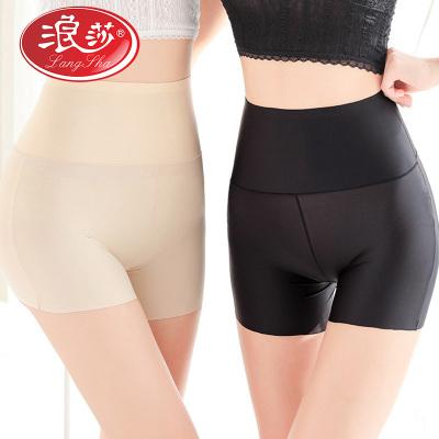 2條浪莎高腰安全褲女防走光夏天薄款純棉冰絲無痕可外穿保險褲打底褲