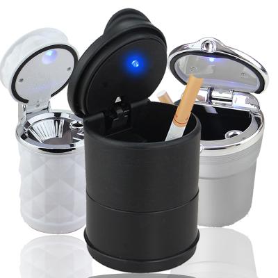 閃電客車載煙灰缸創意個性有蓋多功能懸掛式多用途黑色車內帶LED燈汽車用煙缸車用 4S煙灰缸【帶燈】單個裝