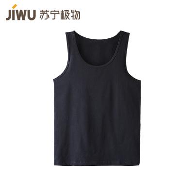 苏宁极物 男式工字型基础纯棉打底背心