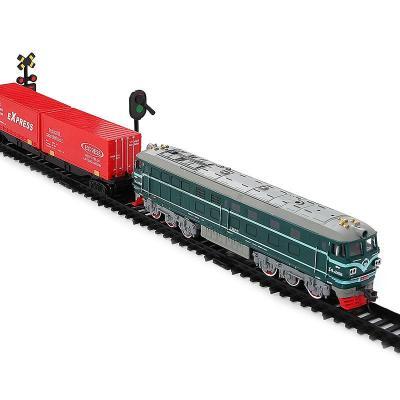 儿童电动火车轨道 中国东风4B内燃机车仿真列车模型拼搭玩具