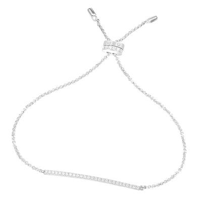 【apm MONACO】一字手腕鏈新款簡約典雅手環925銀手鏈鑲鋯石高貴女士飾品送戀人奢華貴族