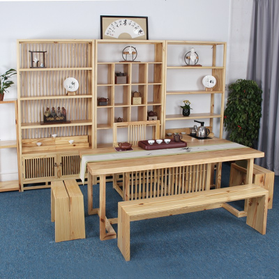 顾致定制新中式实木茶几茶桌椅茶车组合禅意茶室茶台现代简约泡桌椅子