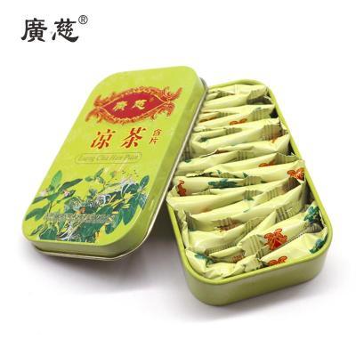 广慈罗汉果枇杷糖胖大海金桔润喉糖爽口薄荷清凉糖非戒烟糖 凉茶含片50g*4盒