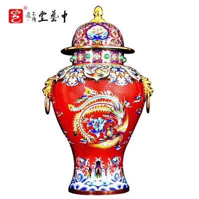 中藝盛嘉張同祿景泰藍掐絲琺瑯復古家居擺件大國雄風中藝堂收藏品