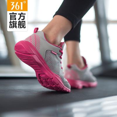 361度女鞋秋季提花网面运动鞋慢跑鞋透气361冬季轻便休闲跑步鞋女