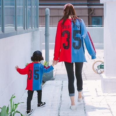 親子裝秋裝2018新款母子母女裝棉衛衣一家三口裝外套