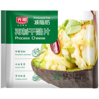 光明减脂肪再制干酪片200克*2烘焙芝士片乳酪