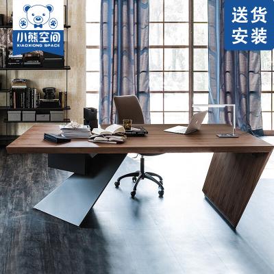 苏宁放心购创意家用办公桌 办工桌电脑办工作桌实木 单人办公电脑桌老板台式时尚新款