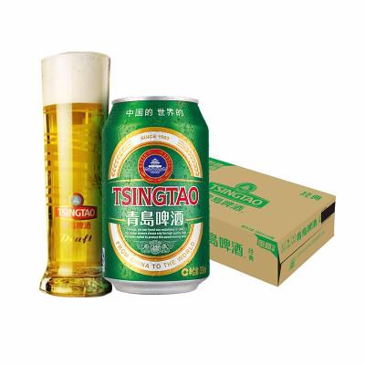 青島啤酒(TSINGTAO)經典11度 330ml*24罐 整箱裝 官方直營
