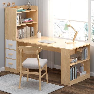 羅森朗 臺式電腦桌書桌書架組合簡約學習桌電腦桌家用臥室書柜一體學生轉角桌子