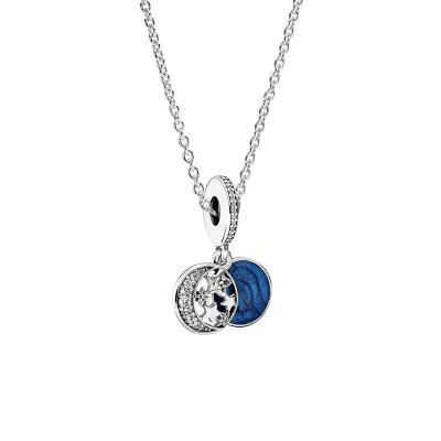 PANDORA潘多拉 925銀項鏈璀璨星空藍色項鏈禮品套裝 SP-002