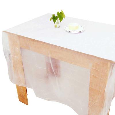 【 白色5包50个【1.6*1.6m】】50张一次性桌布塑料加厚台布一次性餐布白色饭店婚庆一次性用品桌布家用商用