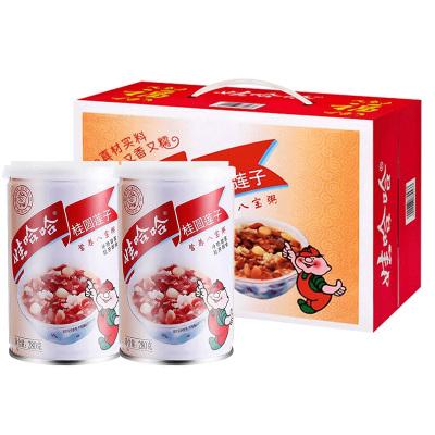 娃哈哈桂圓蓮子八寶粥280g*12整箱裝營養早餐代餐速食粥