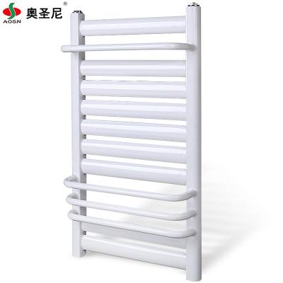 暖气片家用壁挂式钢制低碳钢小背篓卫浴水暖卫生间中心距40高80毛巾架9+4白色