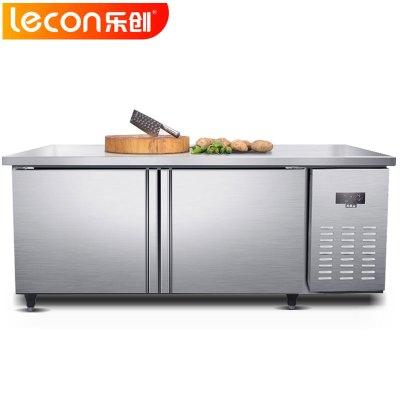 乐创(lecon)GZT016 冷冻工作台 1800*800*800平冷操作台 433L卧式冷柜冰箱 厨房商用保鲜操作台