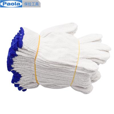 保拉(Paola) 劳保手套12副 加厚耐磨损防滑工地工作手套 白线棉手套5960