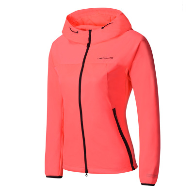 361°正品冬季女子針織單風衣連帽拉鏈防風夾克外套女