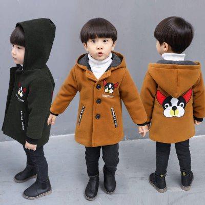男童秋冬装大衣毛呢外套儿童呢子大衣冬毛呢中长款 衫伊格(shanyige)