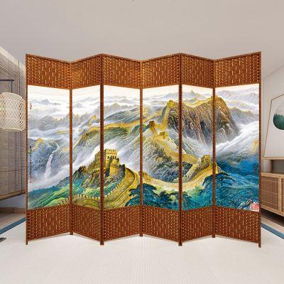 屏风隔断客厅折叠移动卧室遮挡家用玄关墙简约现代折屏新中式房间