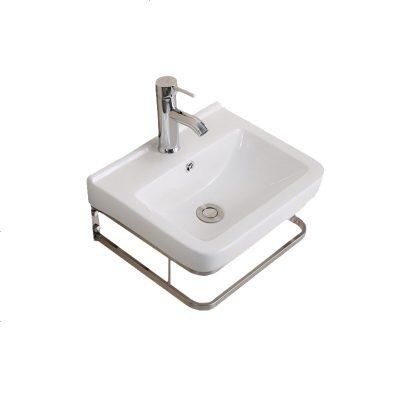 定做 簡易洗臉盆掛墻式迷你洗手盆小戶型衛生間洗漱面盆三角陽臺陶瓷 掛盆H+螺絲下水龍頭