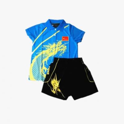 乒乓球服套装儿童短袖打球服小学生训练服男女青少年运动服批印字