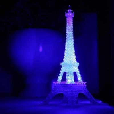 瑞仕兹 圣诞节礼物发光埃菲尔铁塔七彩LED小夜灯浪漫发光巴黎铁塔创意实用生日礼物闺蜜朋友同学卧室氛围灯抖音同款桌面摆件