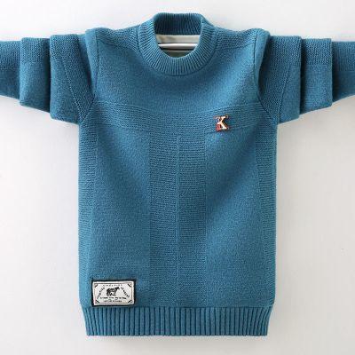 男童毛衣春秋款薄款套頭圓領針織衫兒童裝打底衫 莎丞