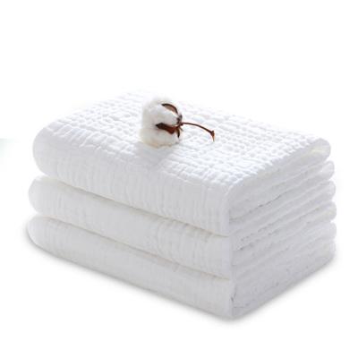 嬰兒浴巾純棉柔軟6層紗布浴巾新生兒加大加厚毛巾春秋6層洗澡包巾艾貝樂