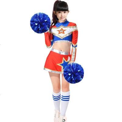儿童啦啦队服装少儿足球宝贝拉拉队舞蹈服套装啦啦操健美操表演服