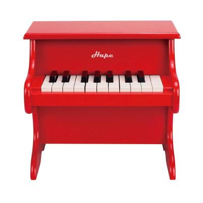 Hape18键钢琴3岁以上儿童早教益智音乐启蒙早旋律音乐玩具木制玩具男孩女孩玩具