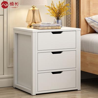 楠杺 簡易床頭柜簡約現代收納小柜子特價儲物柜北歐臥室小床邊柜經濟型