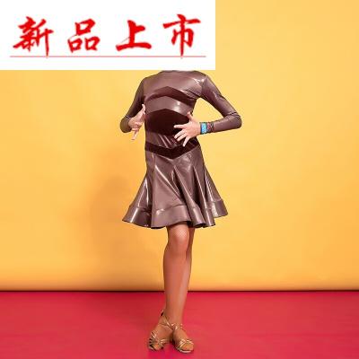 因樂思(YINLESI)兒童拉丁舞比賽服裝長袖新款少兒女孩時尚舞蹈團體演出裙