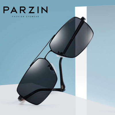 帕森PARZIN 新款时尚大框男款偏光太阳镜 司机开车休闲全框潮墨镜男士8057