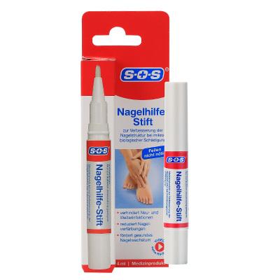 德國SOS原裝進口灰指甲筆4ml 灰指甲專用藥筆抑菌液軟甲膏去除增厚灰甲外用 1支裝 足部護理用品