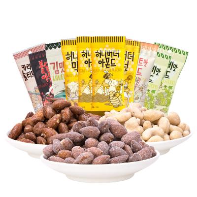 韓國進口湯姆農場Tom's Farm蜂蜜黃油扁桃仁杏仁混合堅果6袋裝組合休閑零食