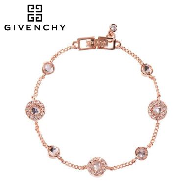 Givenchy/紀梵希 清新系列閃耀 施華洛世奇人造水晶玫瑰金色女士手鏈 60404220